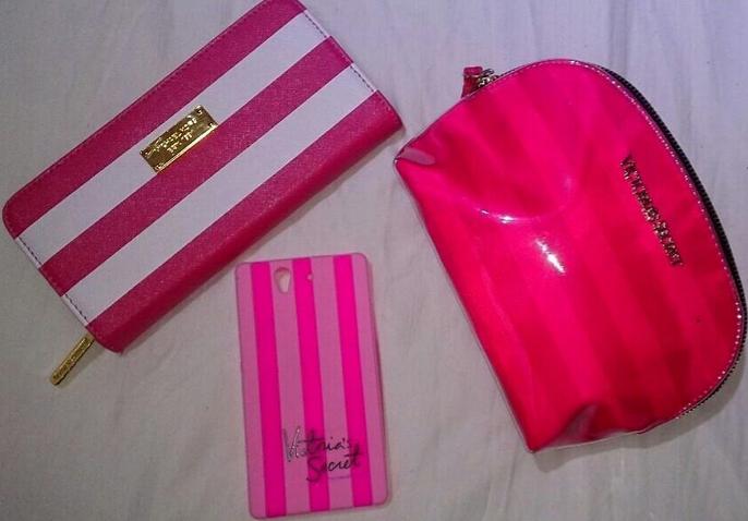 stripy pink accessories