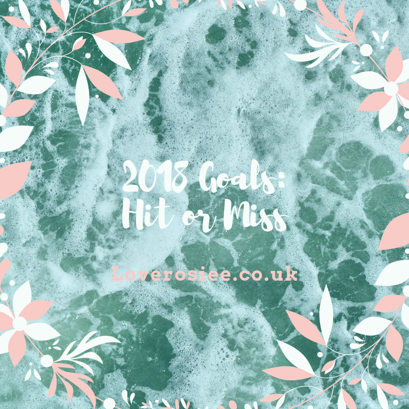 2018 Goals – Hit Or Miss